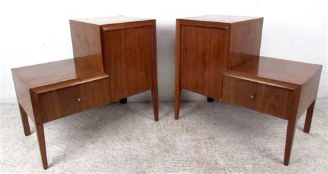 pair of unique mid century nightstands for sale at 1stdibs