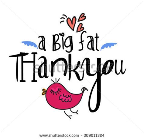 A Great Big Thankyou by Big Thank You Stock Vector 309011324