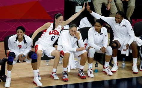 basketball bench players us players react on the bench during a women s gold medal