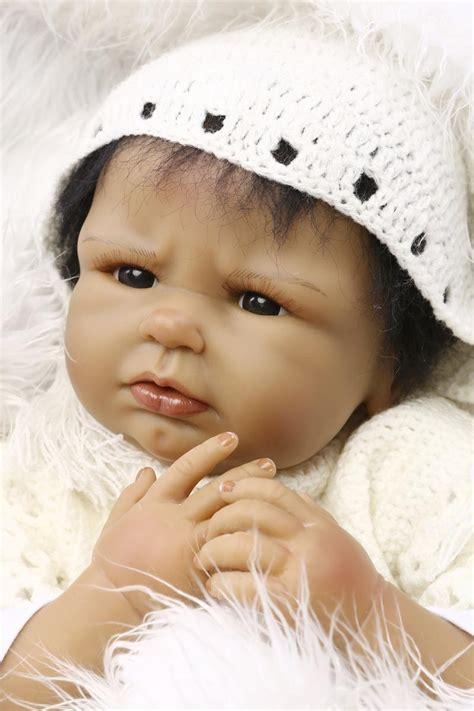 black newborn doll 22 inch black reborn dolls american baby doll