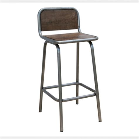 Industrial Bar Stool With Back Bar Chair Industrial Bar Stool With Back