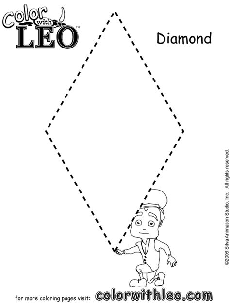 diamond coloring pages preschool 18 best images of octagon tracing preschool worksheets