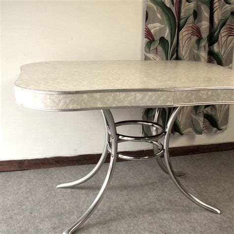 retro chrome kitchen table vintage 1950 s formica and chrome kitchen table