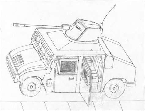 humvee drawing how to draw humvee