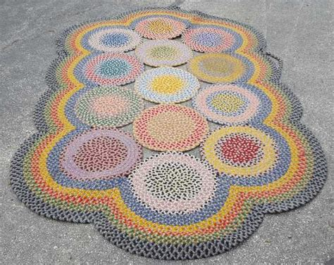 colorful braided rugs vintage colorful country braided rug