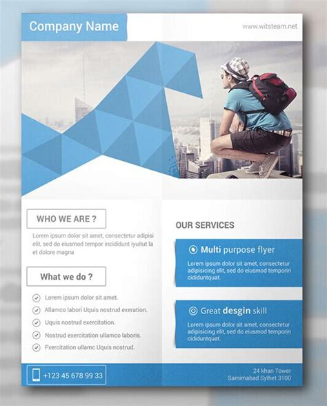free template for flyer design free modern creative flyer template psd titanui