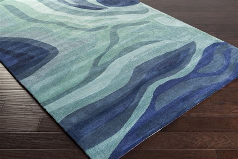 Teal Colored Area Rugs Surya Pigments Pgm 3003 Teal Iris Teal Area Rug