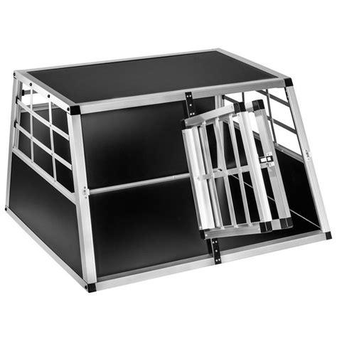 gabbie auto per cani alluminio trasportino doppio gabbia in alluminio per cani da auto