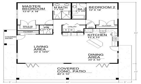 3 Bedroom Cabin Plans Single Story Open Floor Plans Open Floor Plan House