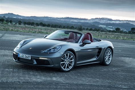 boxster porsche 2017 2017 porsche 718 boxster fully revealed with turbo flat