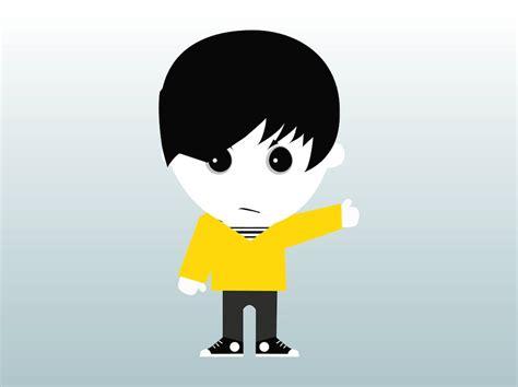 cartoon emo hairstyles emo boy vector art graphics freevector com