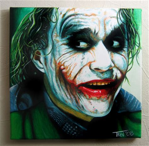 acrylic painting of joker clown archives trevmurphy