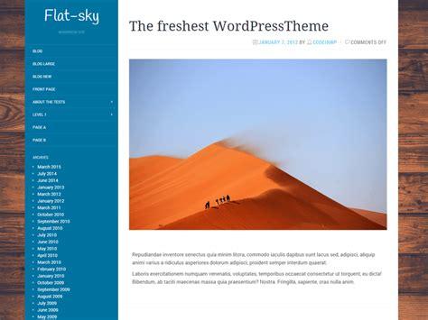 theme wordpress free flat flat sky free wordpress theme