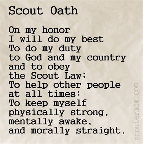 Scout Pledge Boy Scout Oath Www Pixshark Images Galleries With