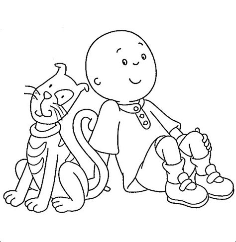 12 Coloring Pages Of Caillou Print Color Craft Caillou Coloring Pages Printable