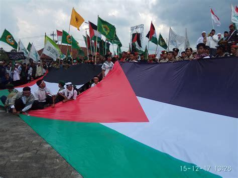 donald trump laknatullah bakar bendera israel ribuan umat islam sragen demo donald