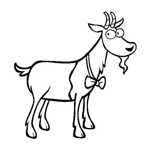 farm goat coloring page template for the goat new calendar template site