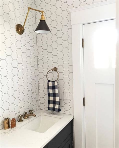 White Hexagon Tile Bathroom by 39 Stylish Hexagon Tiles Ideas For Bathrooms Digsdigs