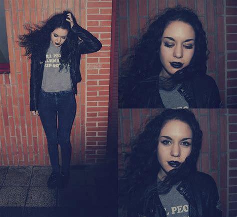 Kaos Zara Is Dead Black medina drop dead t shirt h m skynny zara