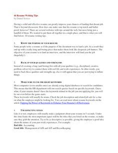 44 resume writing tips cover letter sle no work experience cover letter