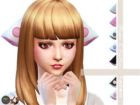 sims 4 anime hair cc my sims 4 blog chobits hair and ears by karzalee