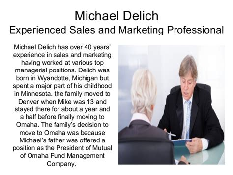michael delich experienced sales and marketing professional
