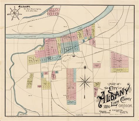 maps albany oregon map of the city of albany county oregon 1890 by g