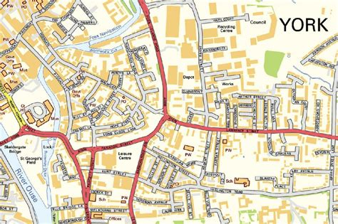 printable map york city centre york street map 163 16 99 cosmographics ltd