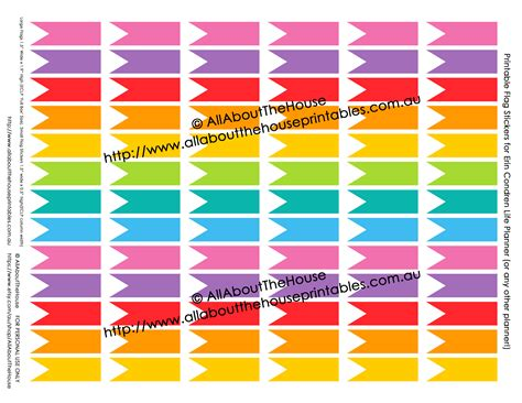 printable eclp stickers printable rainbow calendar stickers for erin condren