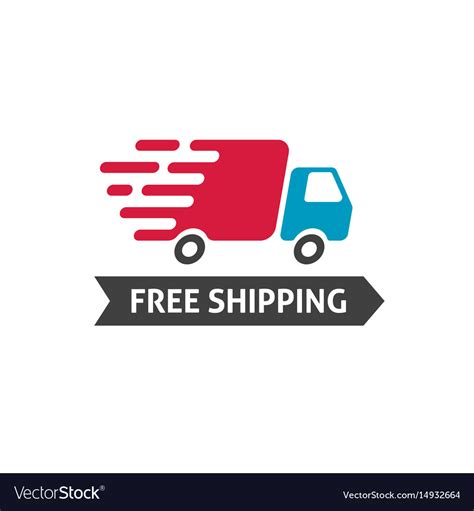 shipping icon truck moving fast  vector image