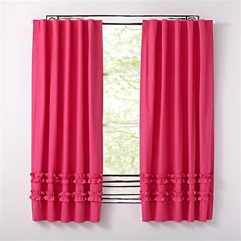 Ruffled Pink Curtains Pink Ruffle Curtain The Land Of Nod