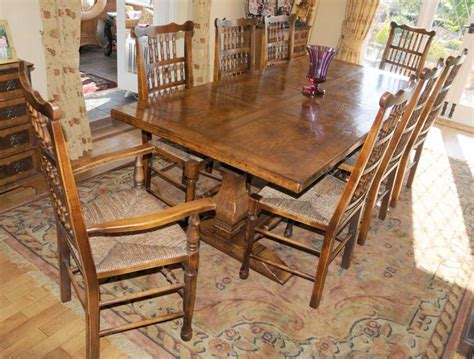 Farmhouse Kitchen Table Sets Farmhouse Kitchen Refectory Table Spindleback Chair Set Dining