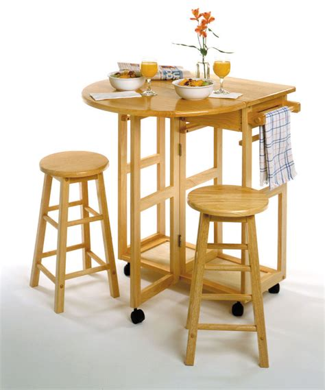 dining kitchen table set basics 3 piece bar stool round