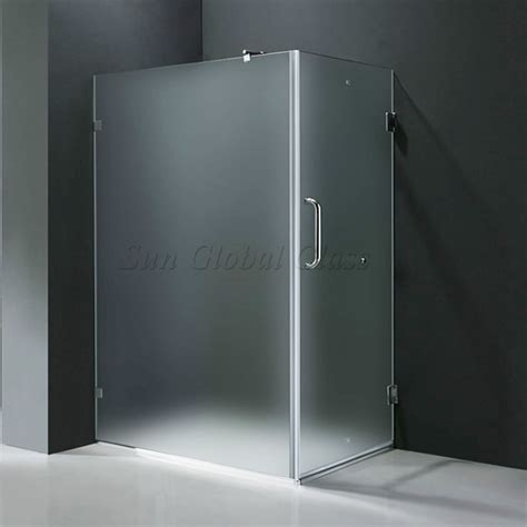 10mm Frosted Tempered Glass Shower Door Glass Supplier Frosted Shower Glass Doors