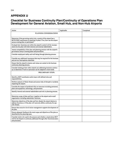 information technology business continuity plan template business continuity templates blank sticker chart