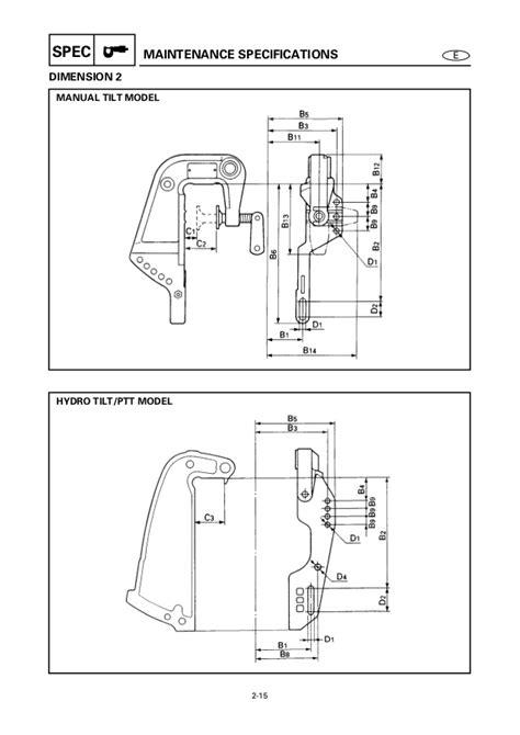 Yamaha Outboard 40veo 40er Service Repair Manual X 740146 Yamaha Outboard Mounting Template
