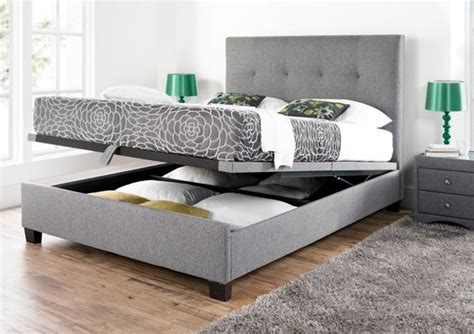 ottoman bed no headboard kaydian walkworth ottoman storage bed smoke fabric