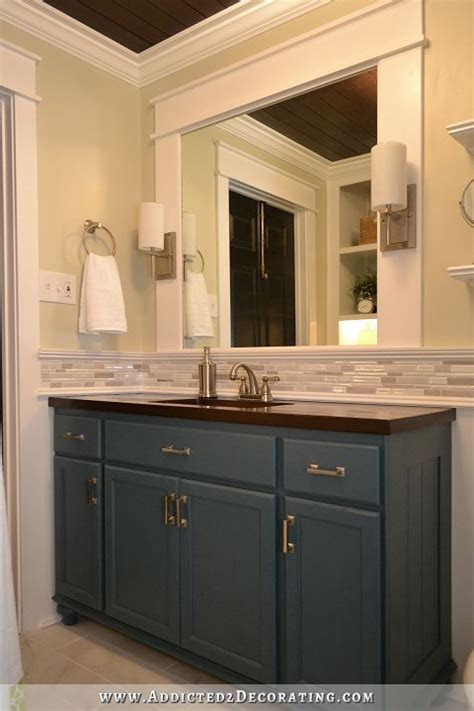 How To Put Up Backsplash In Bathroom by Hallway Bathroom Remodel Before After