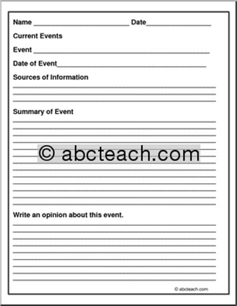 report form current event abcteach