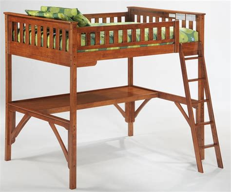 full size wood loft bed night and day full loft bed cherry kids bedroom furniture
