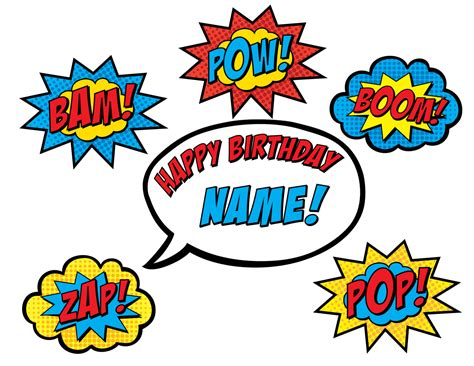 printable superhero quotes superhero cake topper printable by bsquareddesign on etsy