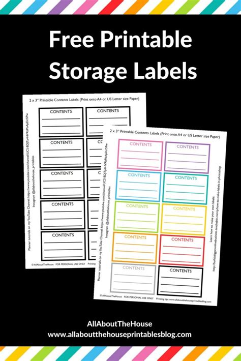 printable garage labels how to make printable storage contents labels in photoshop