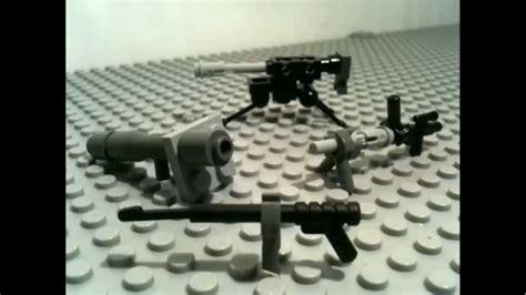 lego ww2 tutorial how to make lego ww2 guns youtube