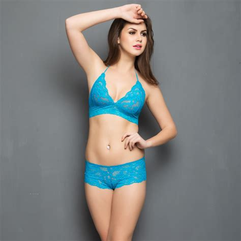 Set Bra lace bra set in turquoise bras designer bras