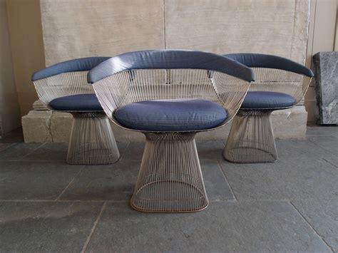 set of eight knoll warren platner 1966 dining chair