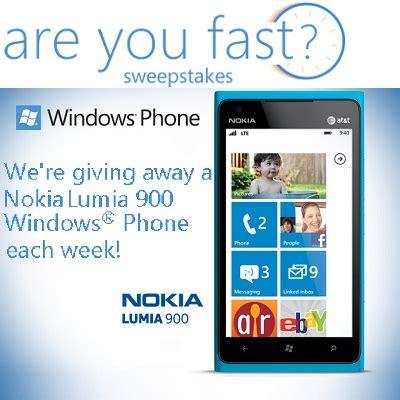 Microsoft Corporation Sweepstakes Promotion - win the weekly nokia lumia 900 windows phone sweepstakesbible