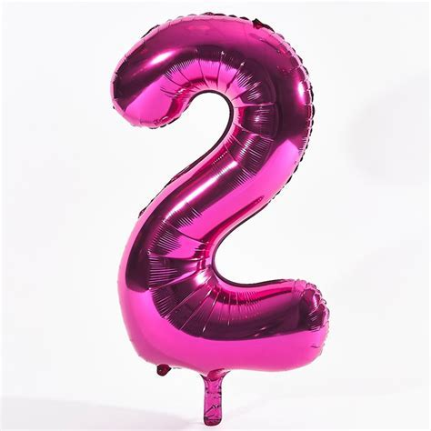 Pink Number 2 Foil Giant Helium Balloon   Card Factory