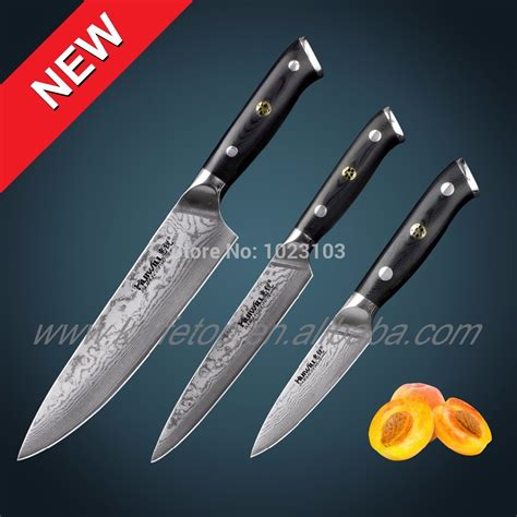 Japanese Damascus Kitchen Knives 67 Layers 3 Pcs Japanese Vg10 Damascus Stainless Steel