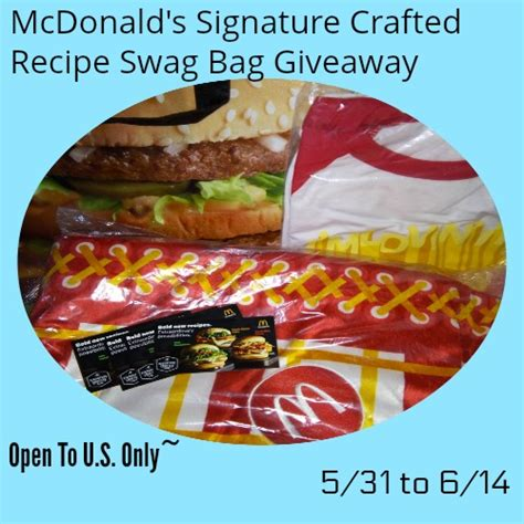 News Ebelle5 Handbag Giveaway Brought To You By Elliott Lucca mcdonald s signature crafted recipe swag bag giveaway ends