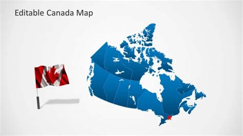 editable us and canada map editable canada map template for powerpoint slidemodel